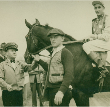 George M. Papa with racehorse